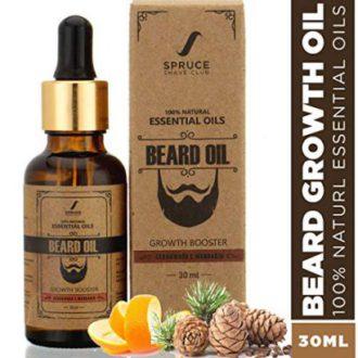 Spruce Shave Club Beard Oil For Beard Growth (30ml) – Cedarwood & Mandarin – 9 Natural Oils For Beard Growth